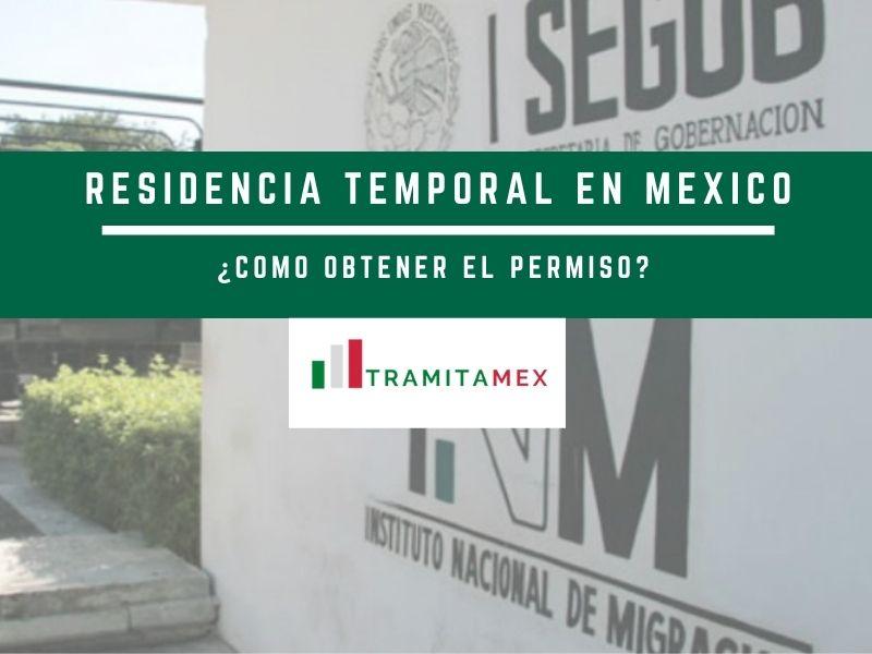 Residencia temporal en México FM3