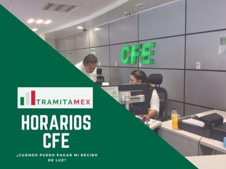 Horarios CFE en México